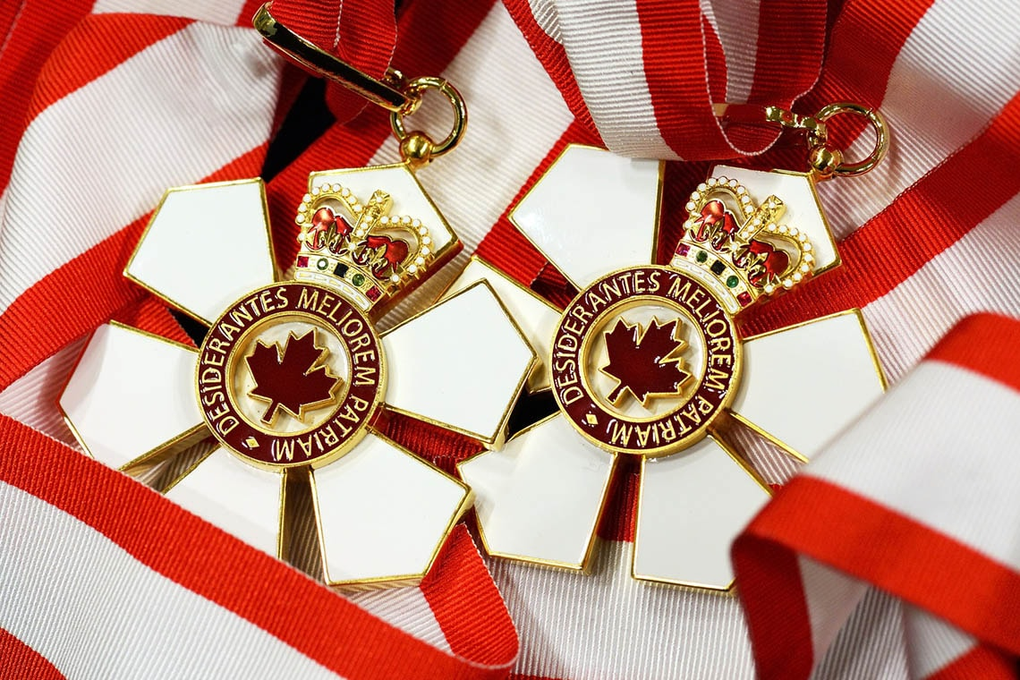 Order of Canada medals