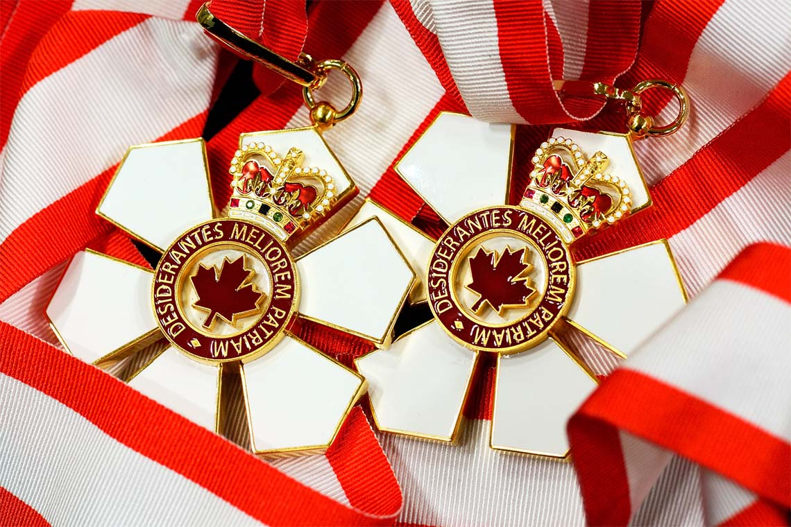 Two order of Canada medals