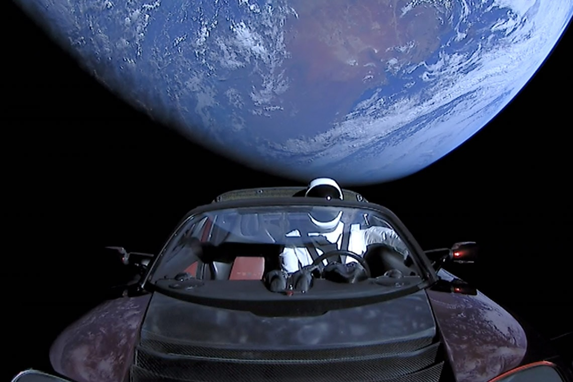 Photo of Tesla in space