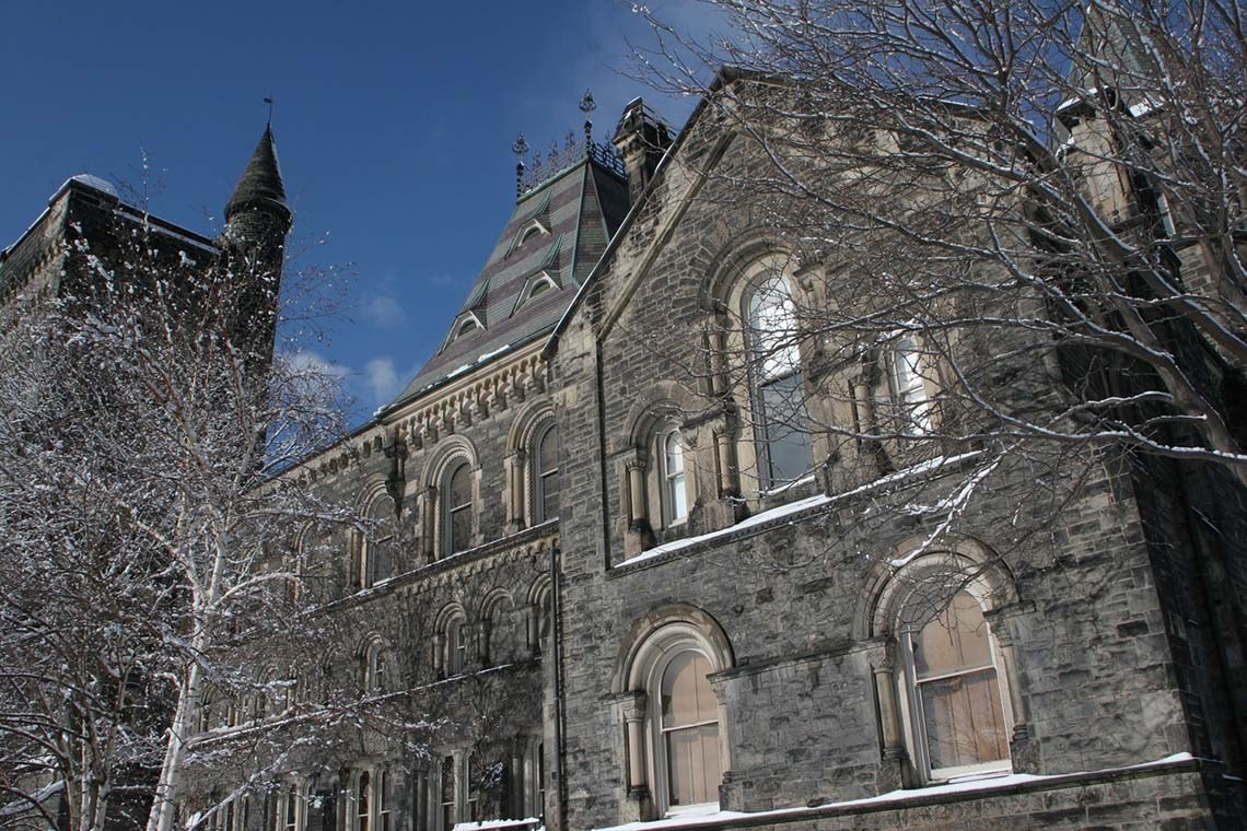 Photo of University College in winter