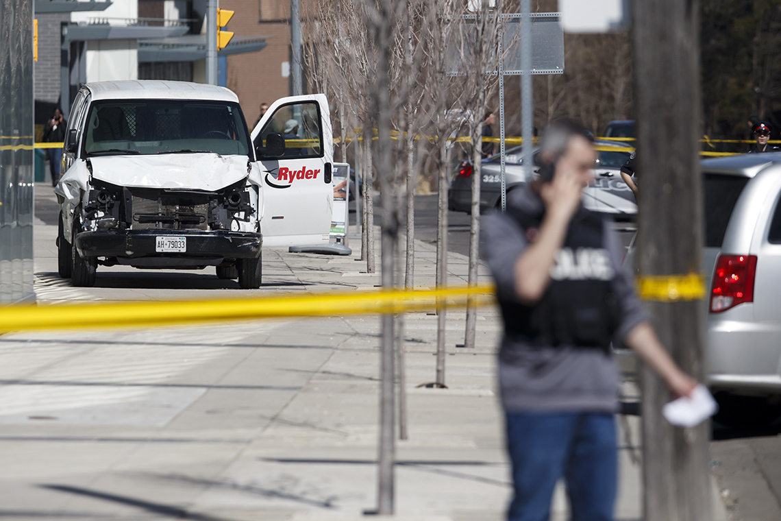 The van used in Toronto attack