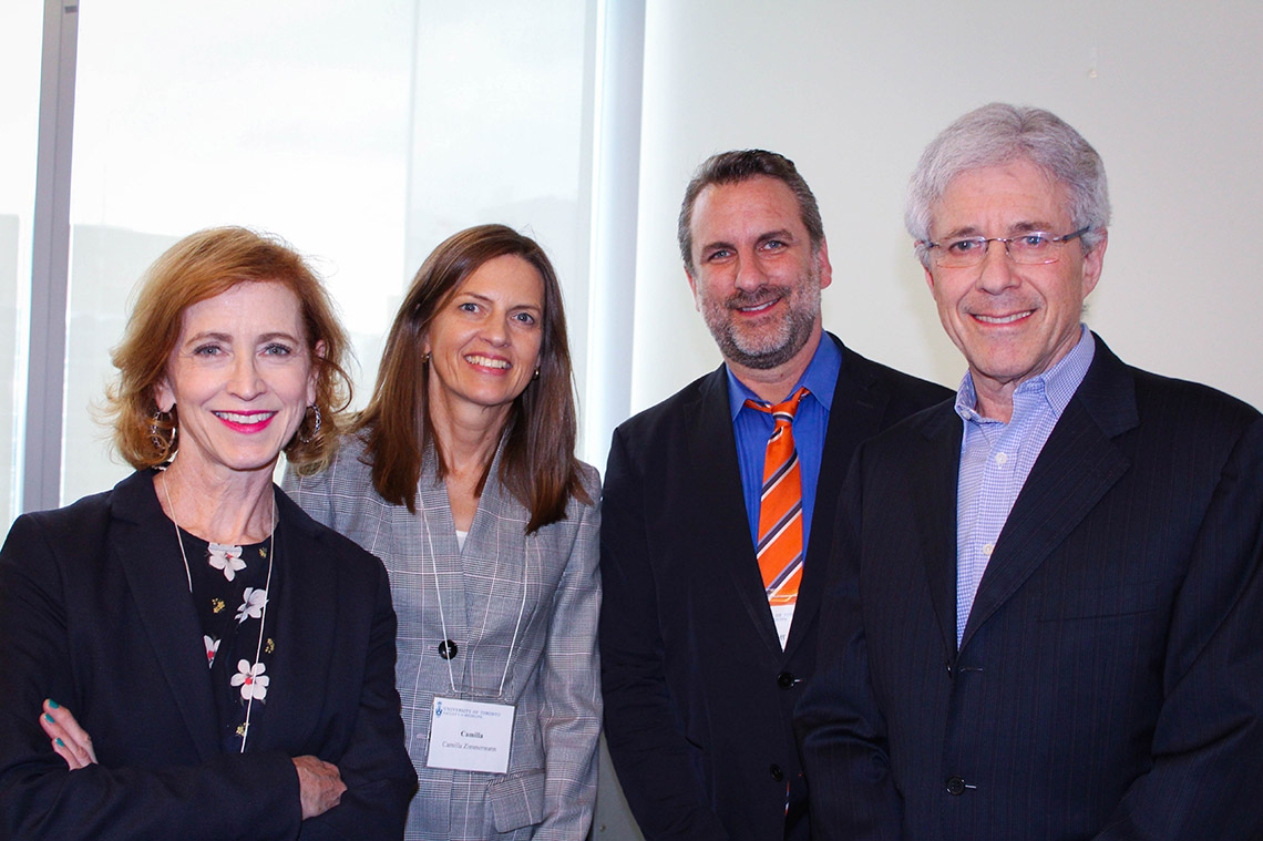 Photo of speakers at Medicine event