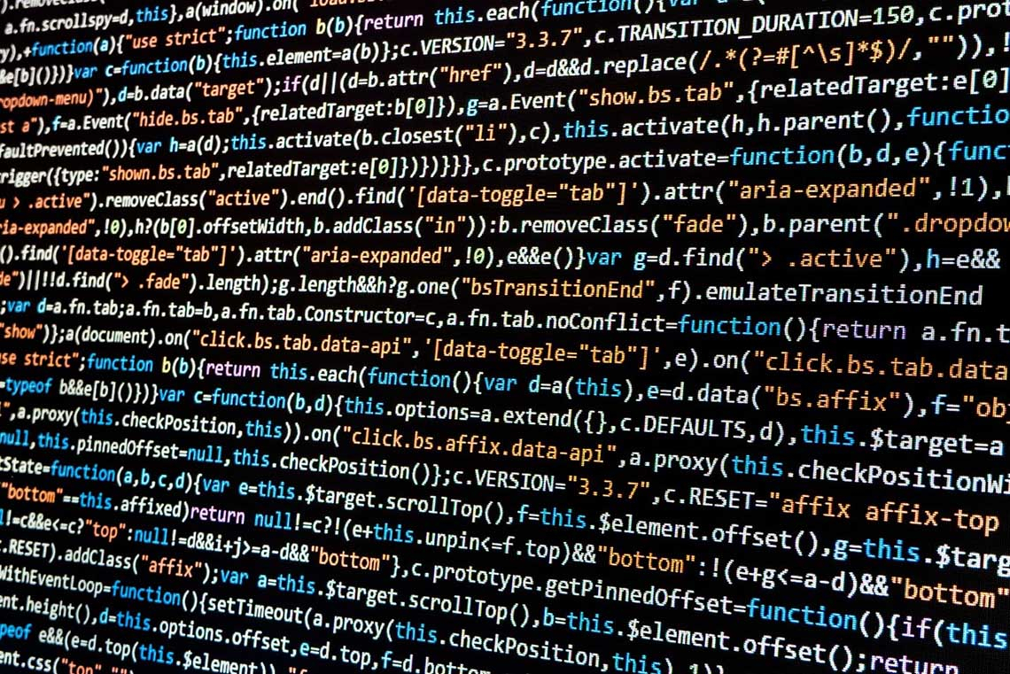 Photo of code on a computer screen