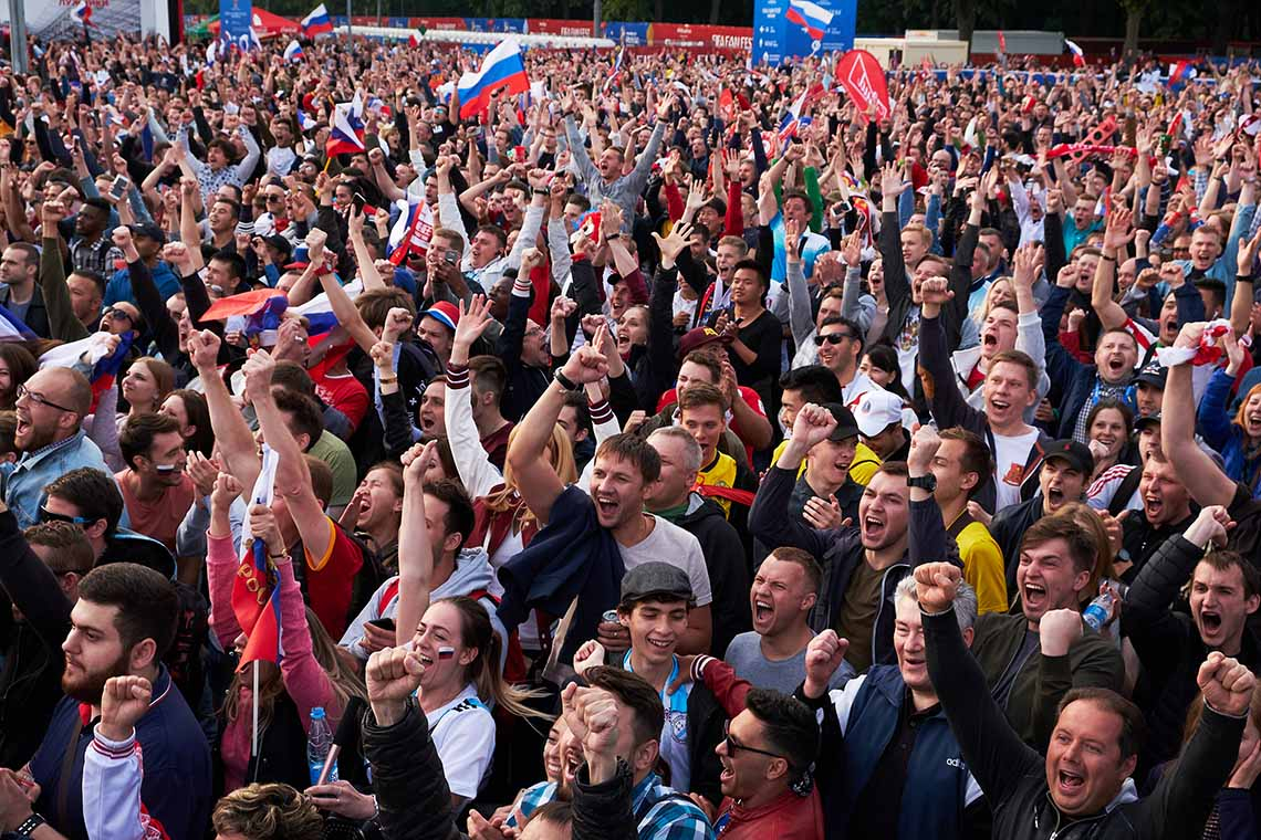 Photo of World Cup fans in Russia