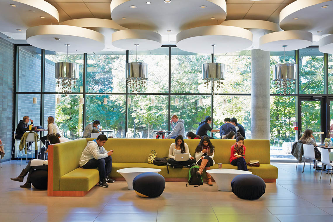 Photo of students studying at UTM