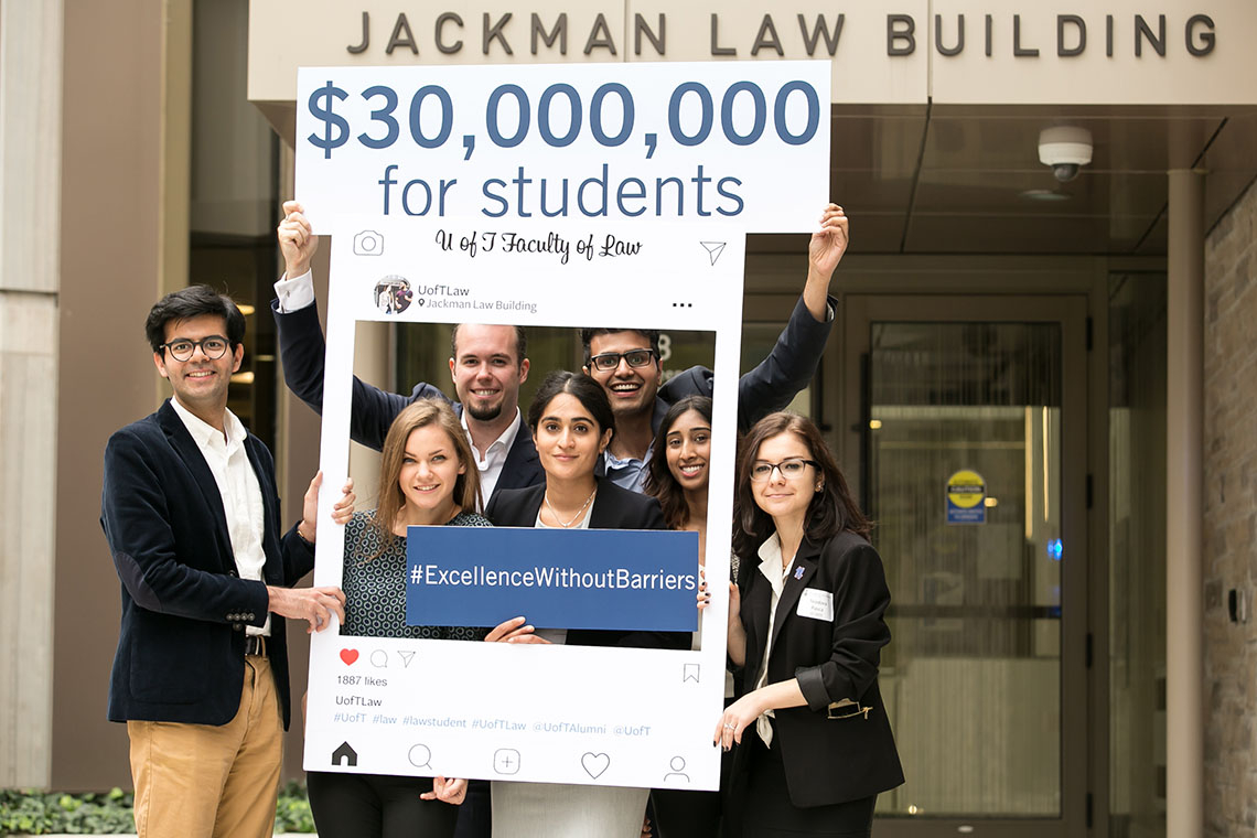 Photo of Faculty of Law campaign