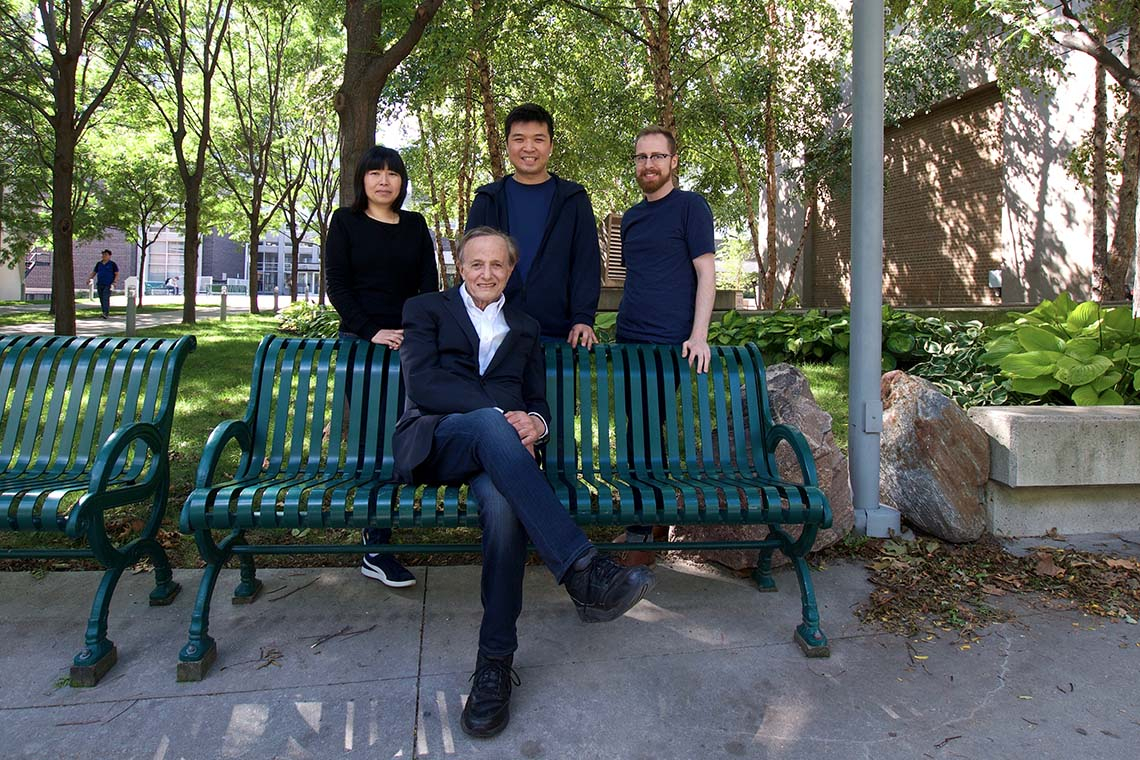 Photo of John Polanyi and team