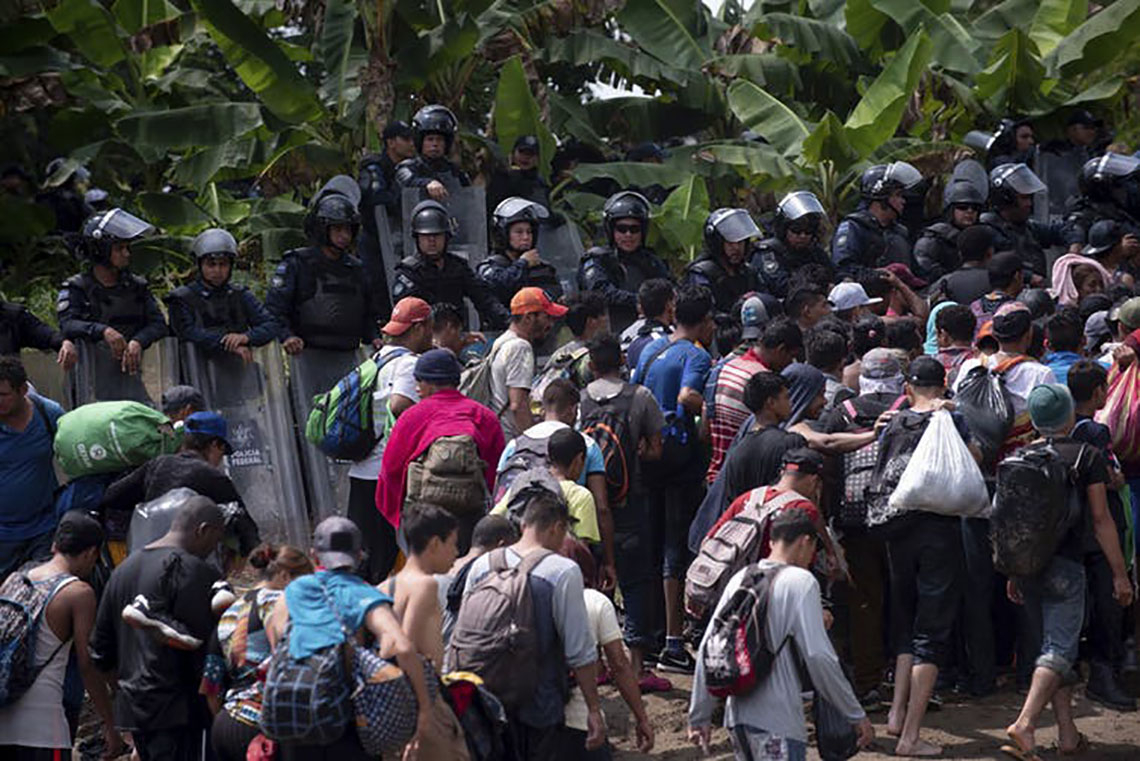 Photo of migrant caravan
