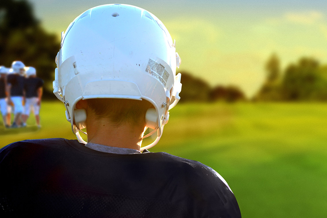 Photo of boy in helment