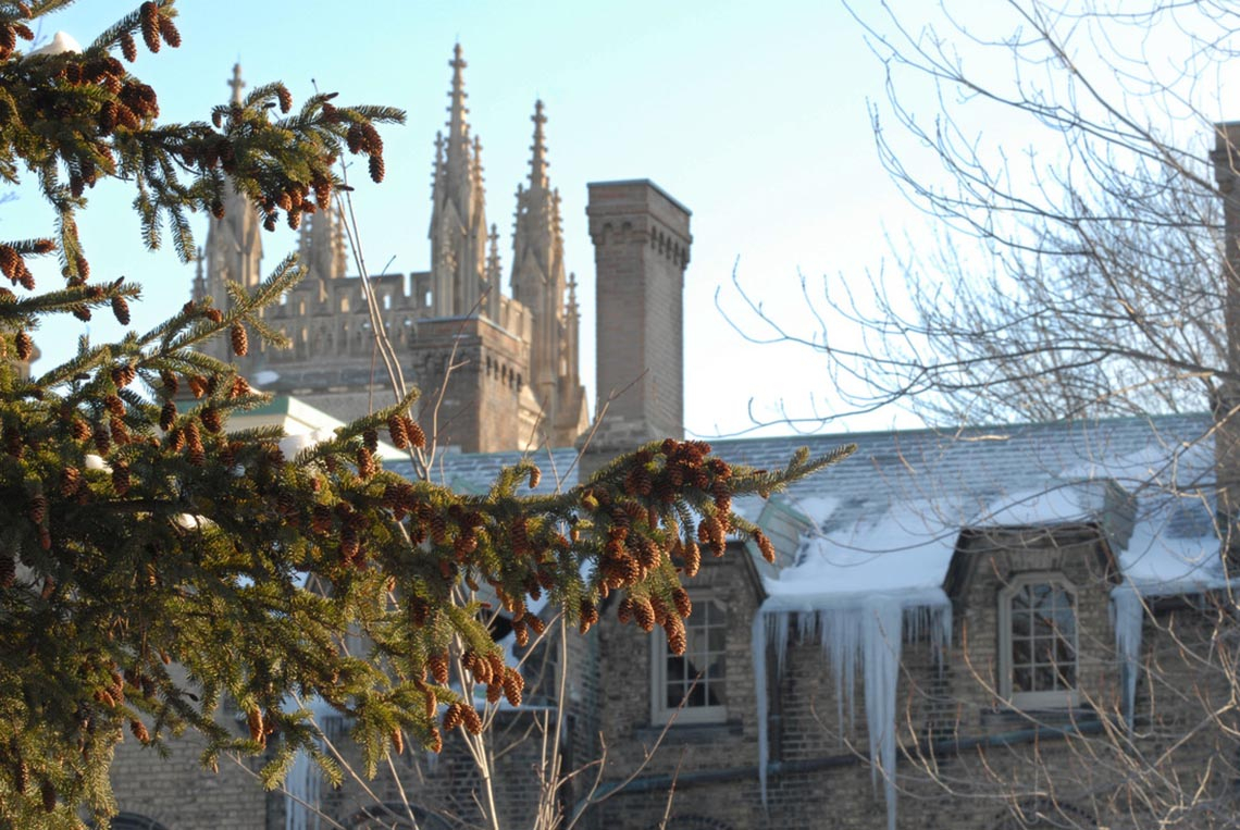 Photo of winter scene at U of T