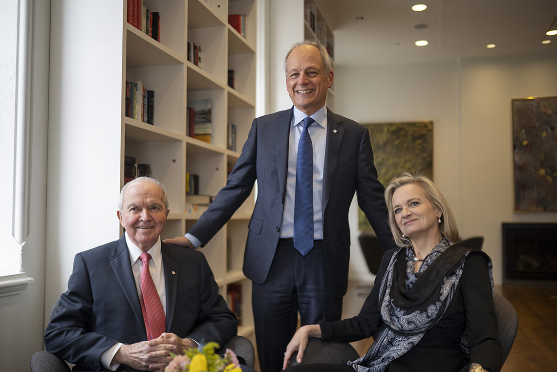 Photo of Arthur Labatt, Meric Gertler and Jacquie Labatt