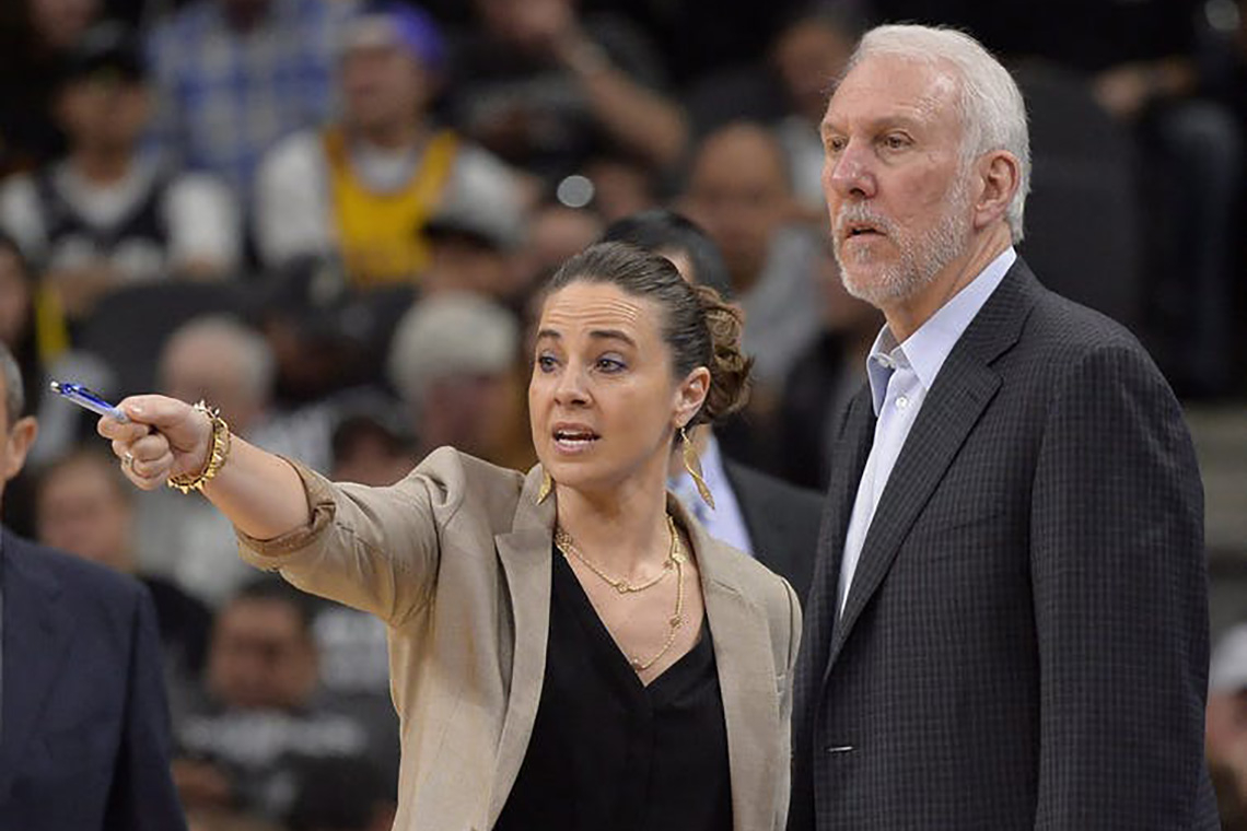 Photo of Greg Popovich and Beck Hammon