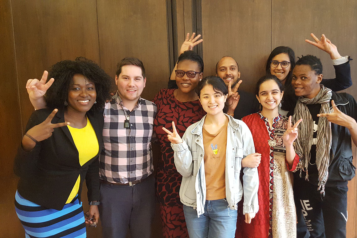 Photo of students in Lancet youth network