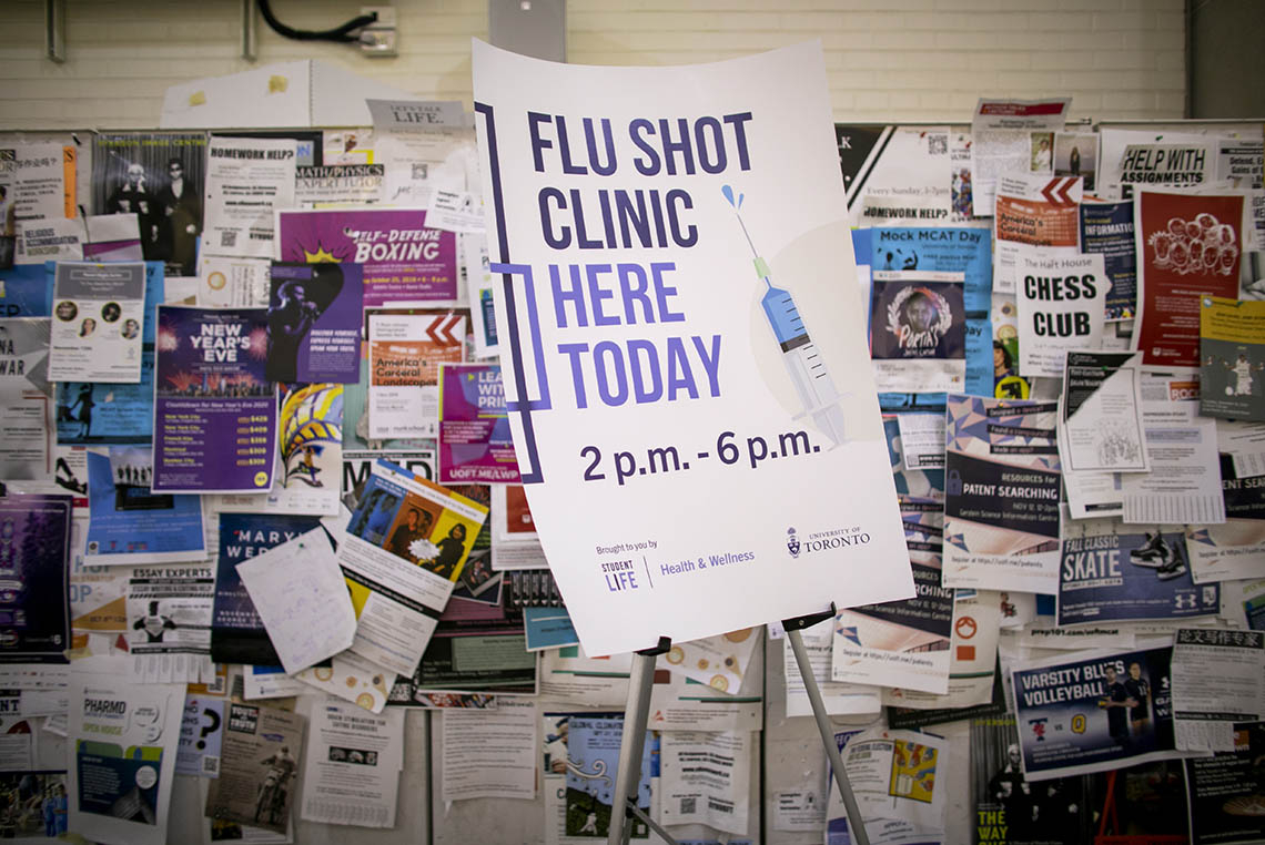 Photo of flu clinic flyer