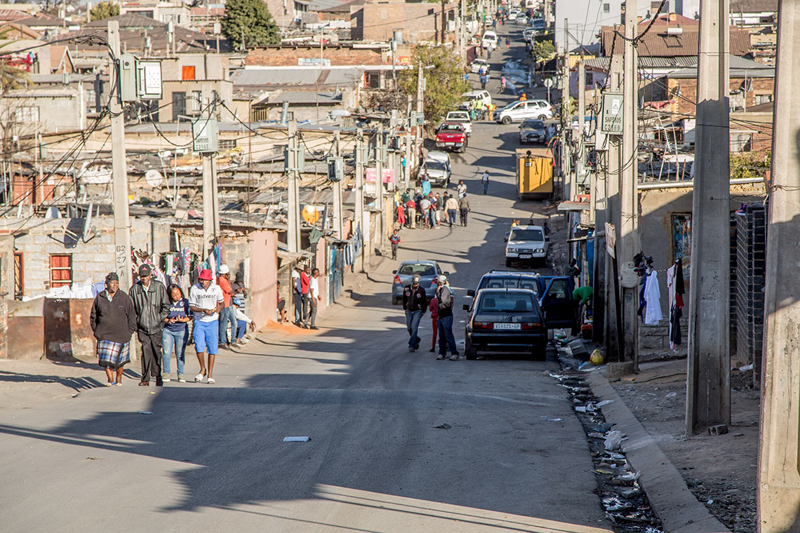 photo of street in Alexandra township in South Africa