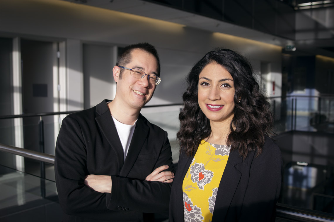 photo of Dr. Leung and Mishaal Arshad