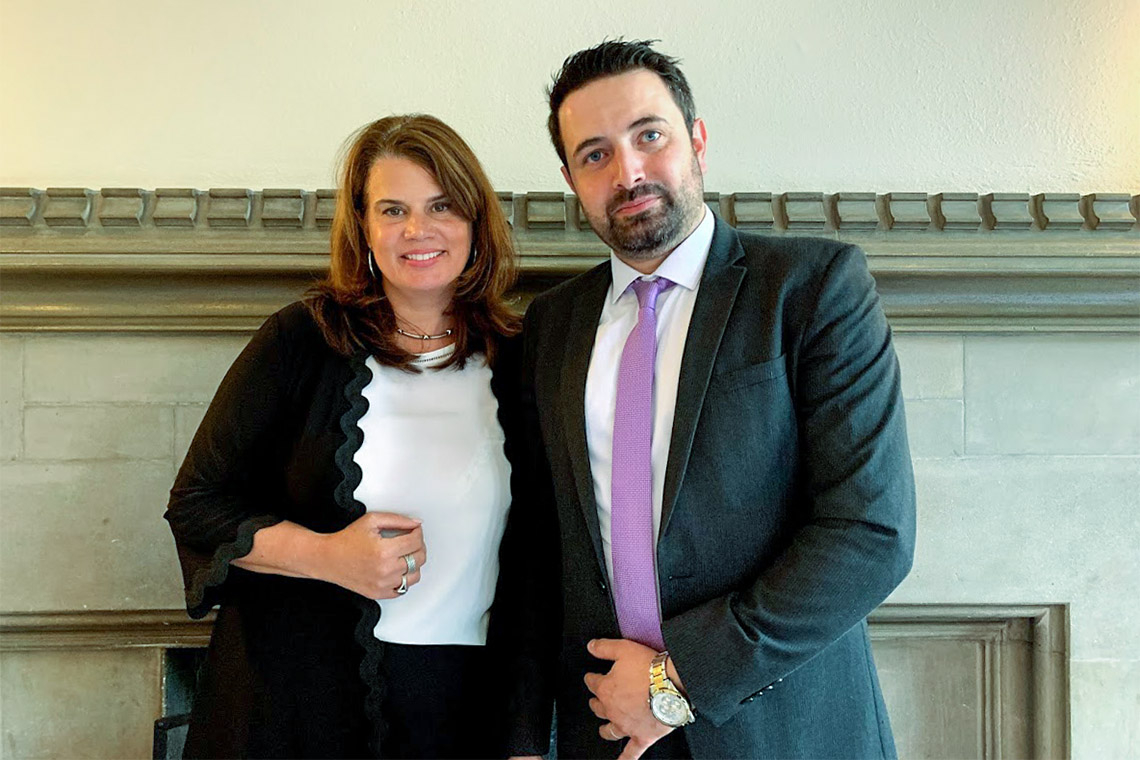 Julia Zarb and Khaled Almilaji
