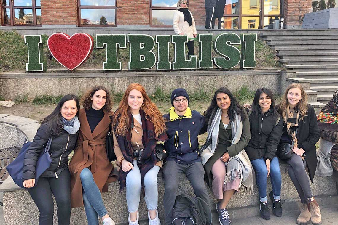 U of T students in Tbilisi