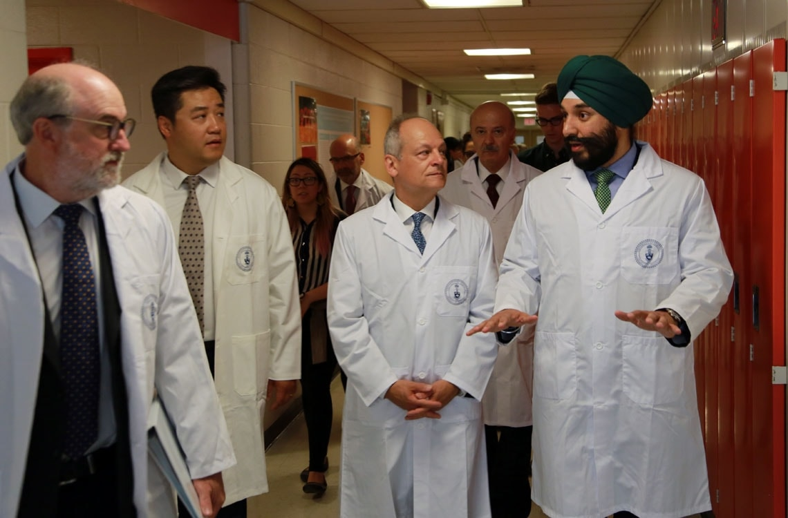 Scott Mabury, Meric Gertler and Navdeep Bains
