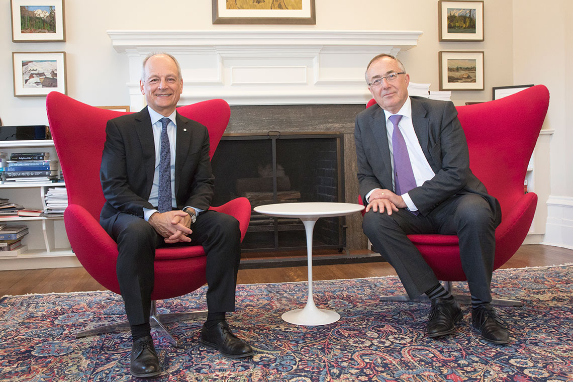 photo of Meric Gertler and Michael Arthur