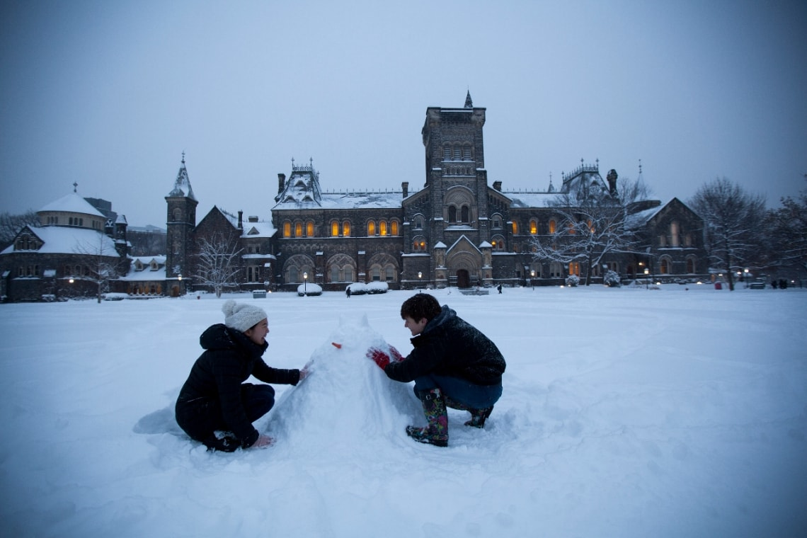 Photo of King's College Circle in winter