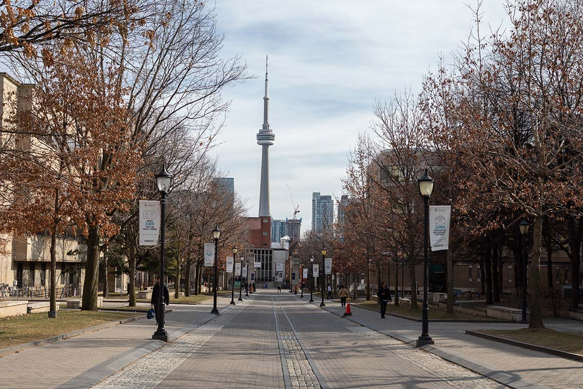 looking south down kings college road towards the cn tower