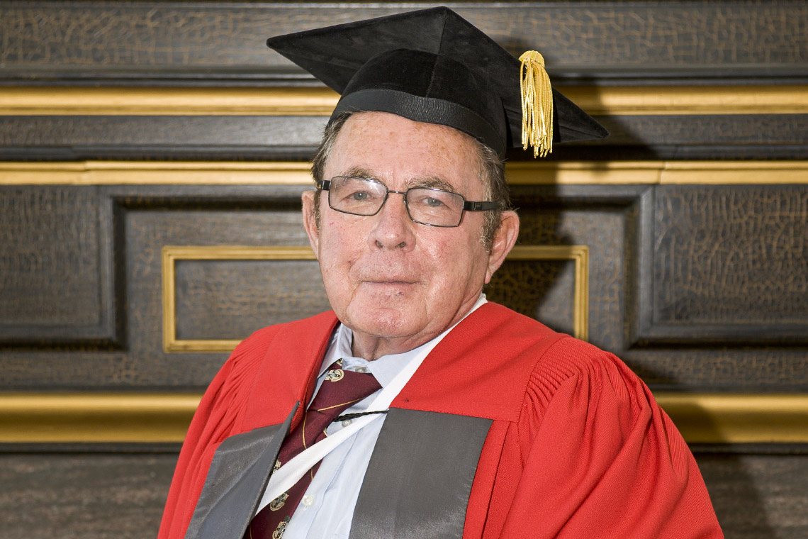 Mladan Vranic during his honorary degree ceremony