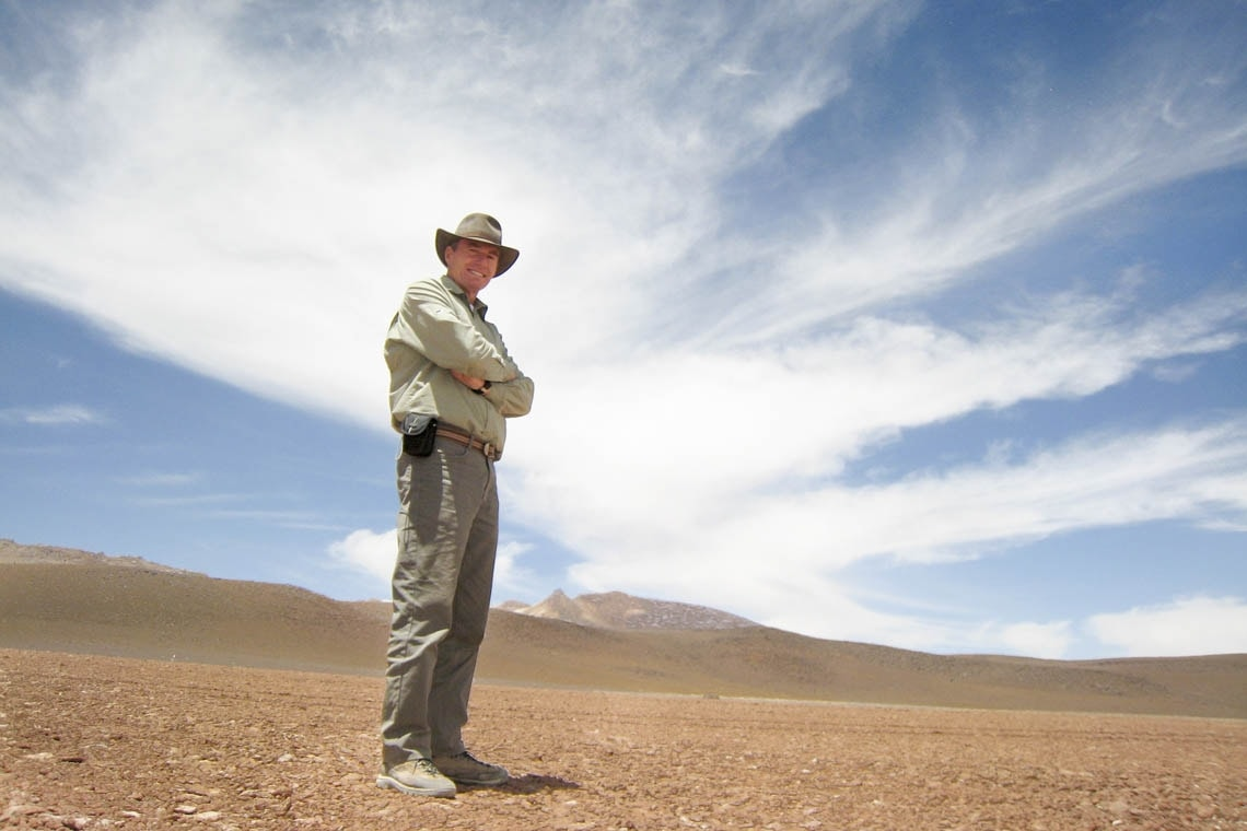 Nick Eyles standing in the Atacama desert