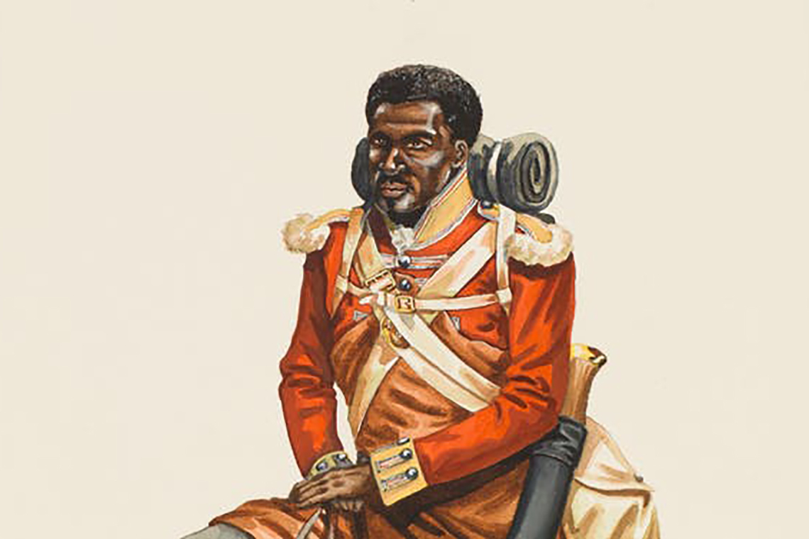 Depiction of John Marrion in uniform