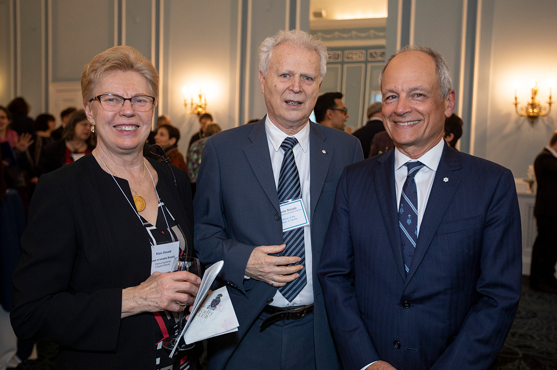 Klara and Levente Diosady; Meric Gertler