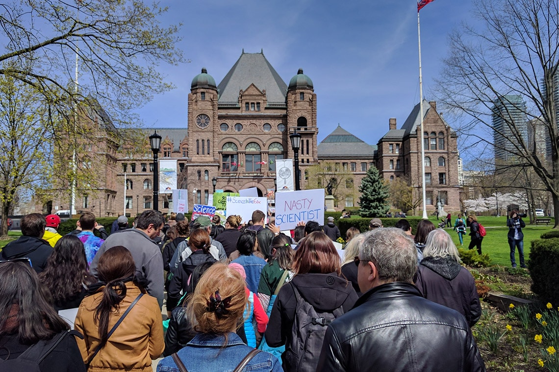 March for Science in Toronto