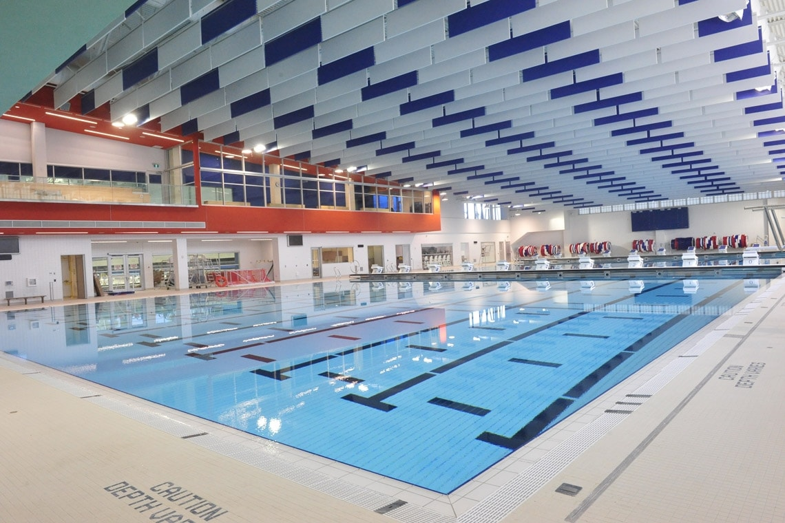 The Toronto Pan Am Centre pool