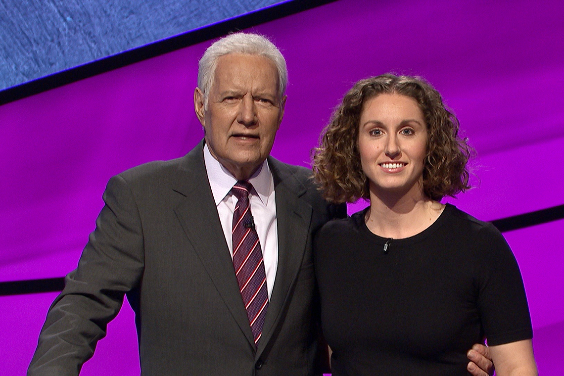 Alex Trebek and Brooke MacKenzie