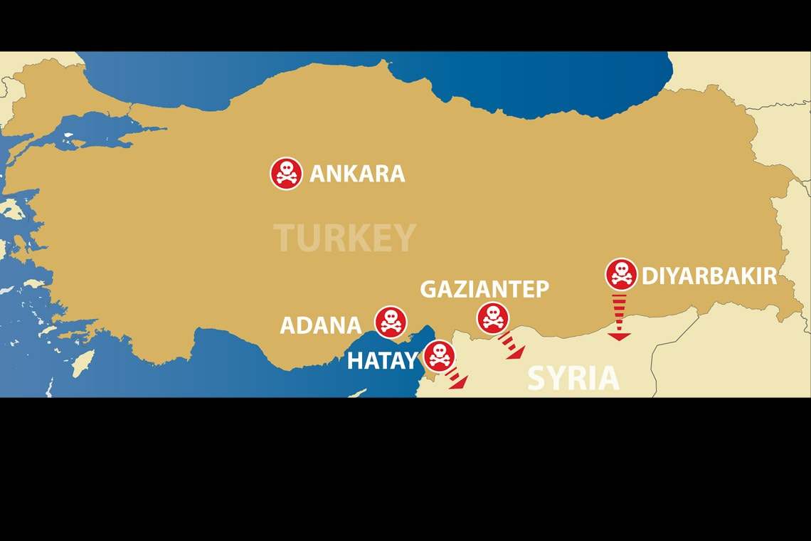 Turkey map