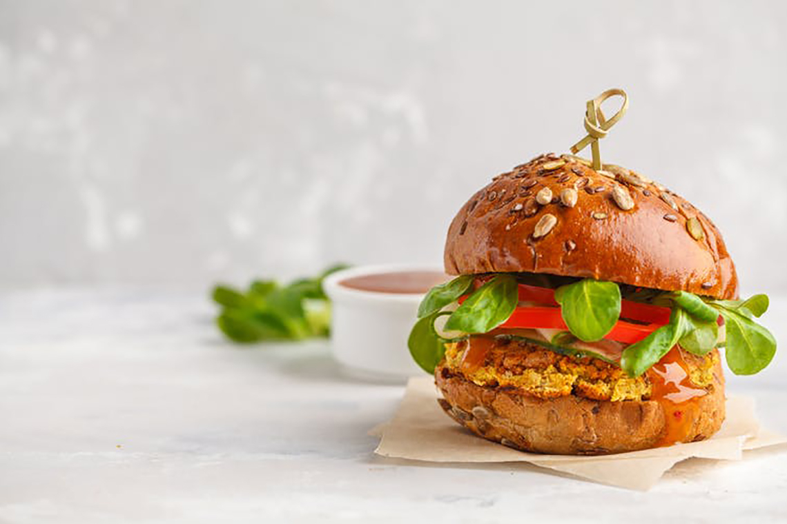 Photo of a veggie burger