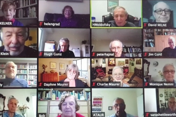 The Senior College book club meets online through Zoom