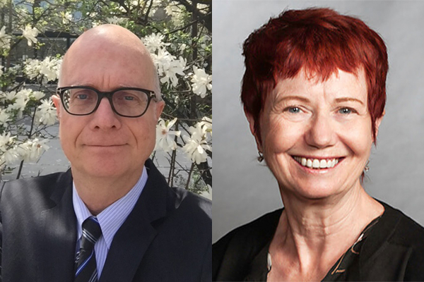 Headshot of Steve Moate and Sheila Brown