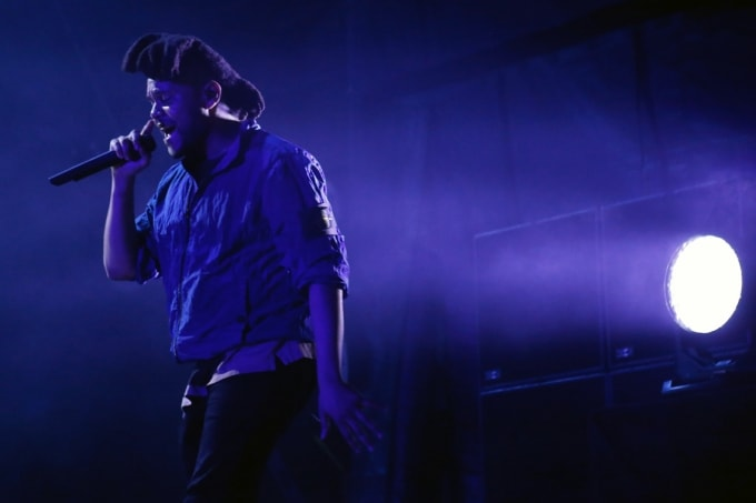 concert photo of The Weeknd