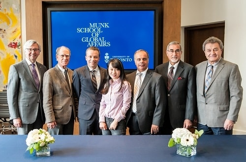People gathered at the launch of the new Hellenic Studies program