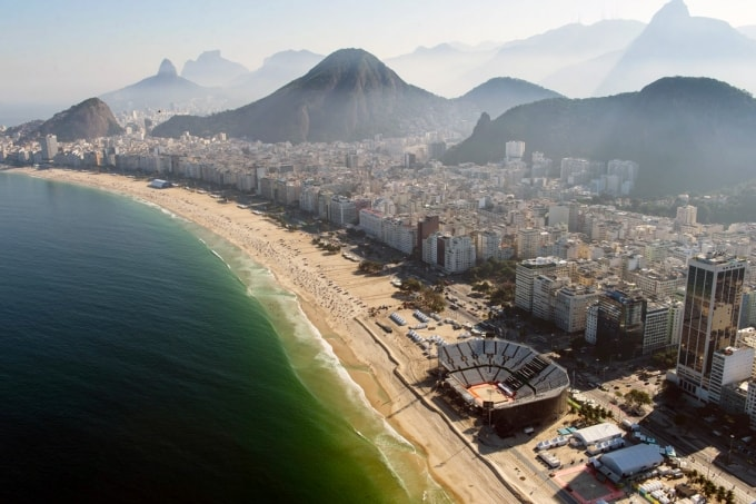 photo of Rio and volleyball site