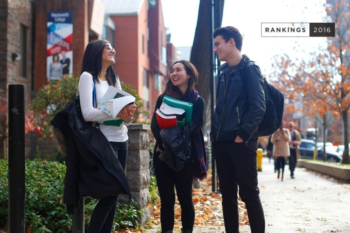Photo of students at U of T
