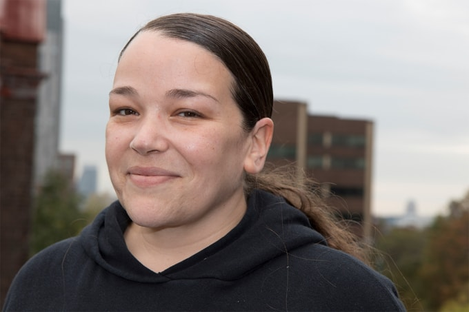 photot of Jaime Kearns who travelled to New Zealand to work with the Maori