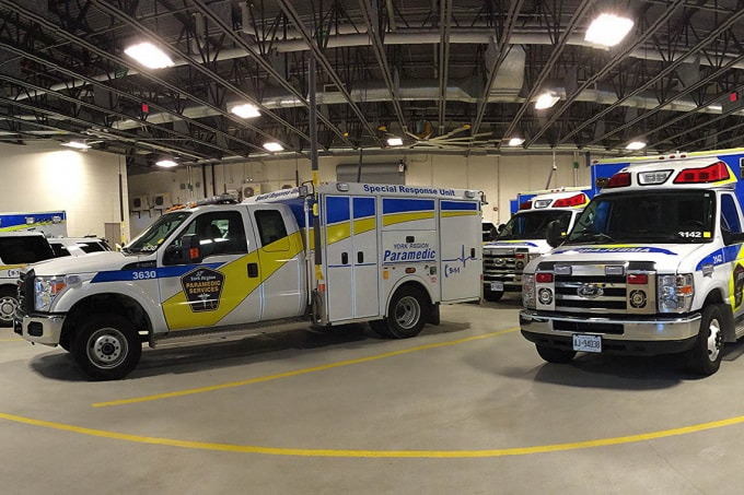 Photo of paramedic vehicles