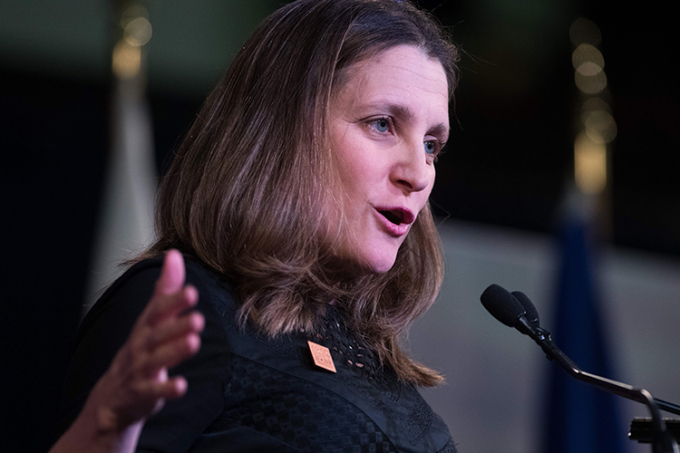 Photo of Chrystia Freeland at U of T