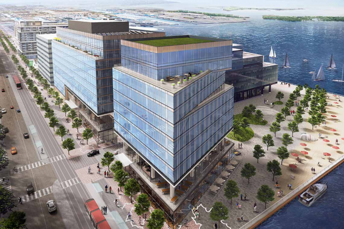 Rendering of Waterfront Innovation Centre