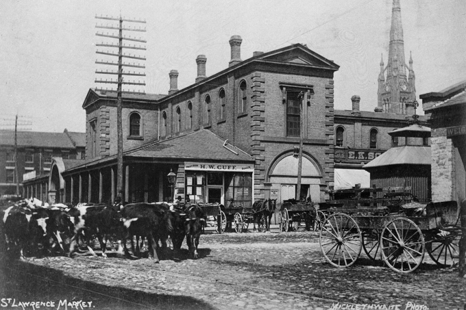 St. Lawrence Market in 1888
