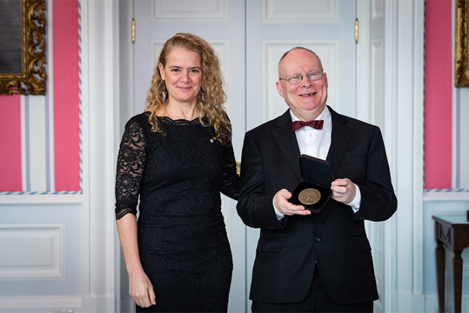 photo of Andrew James Paterson with Governor General of Canada Julie Payette