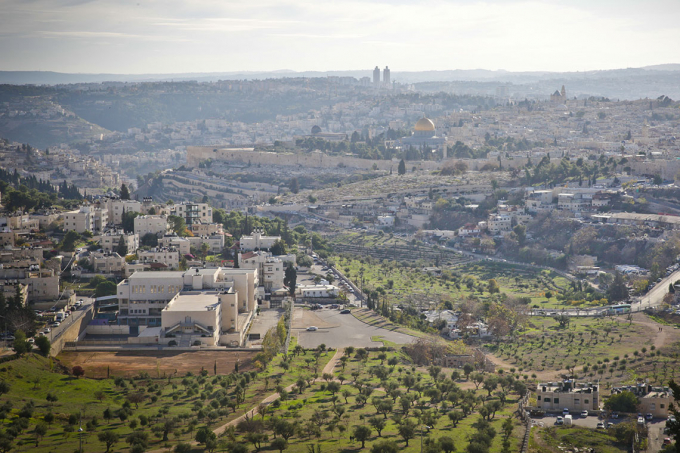 An aerial photo of Jerusalem