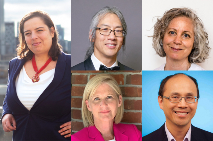 Tom Chau, Barbara Fallon, Audrey Macklin, Stephen Hwang and Anna Shternshis are the winners of the President's Impact Awards