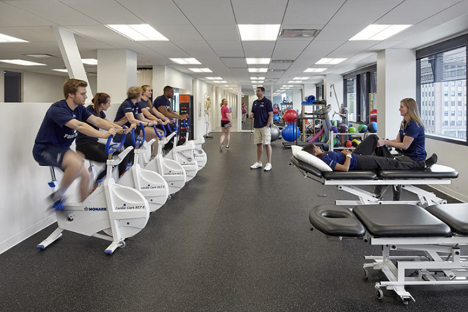 Photo of stationary bikes at sport medicine clinic